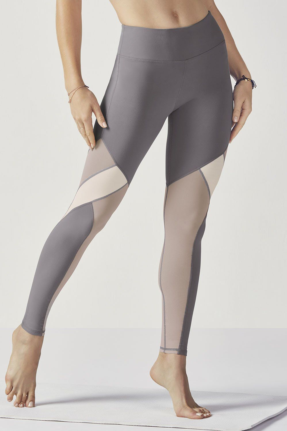 993b94d165d6 Show off some shimmer in our mixed media leggings with high-shine fabric  and breezy mesh panels all in one. Enjoy superior technology with all-way  stretch
