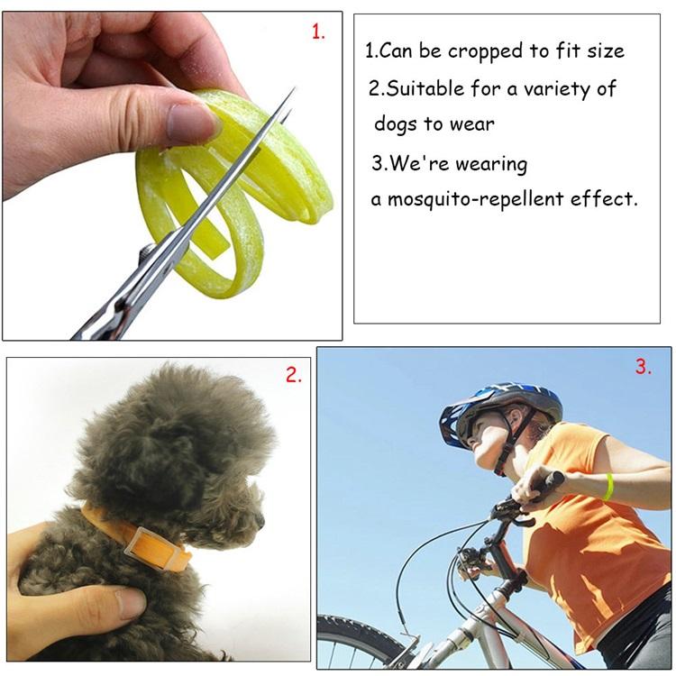 ベット用品 蚤対策 虫除け首輪 蚊よけ 犬猫用 調節可能 四季用 安全 ペットケア グリーン Pets Dog Cat Flea Collar