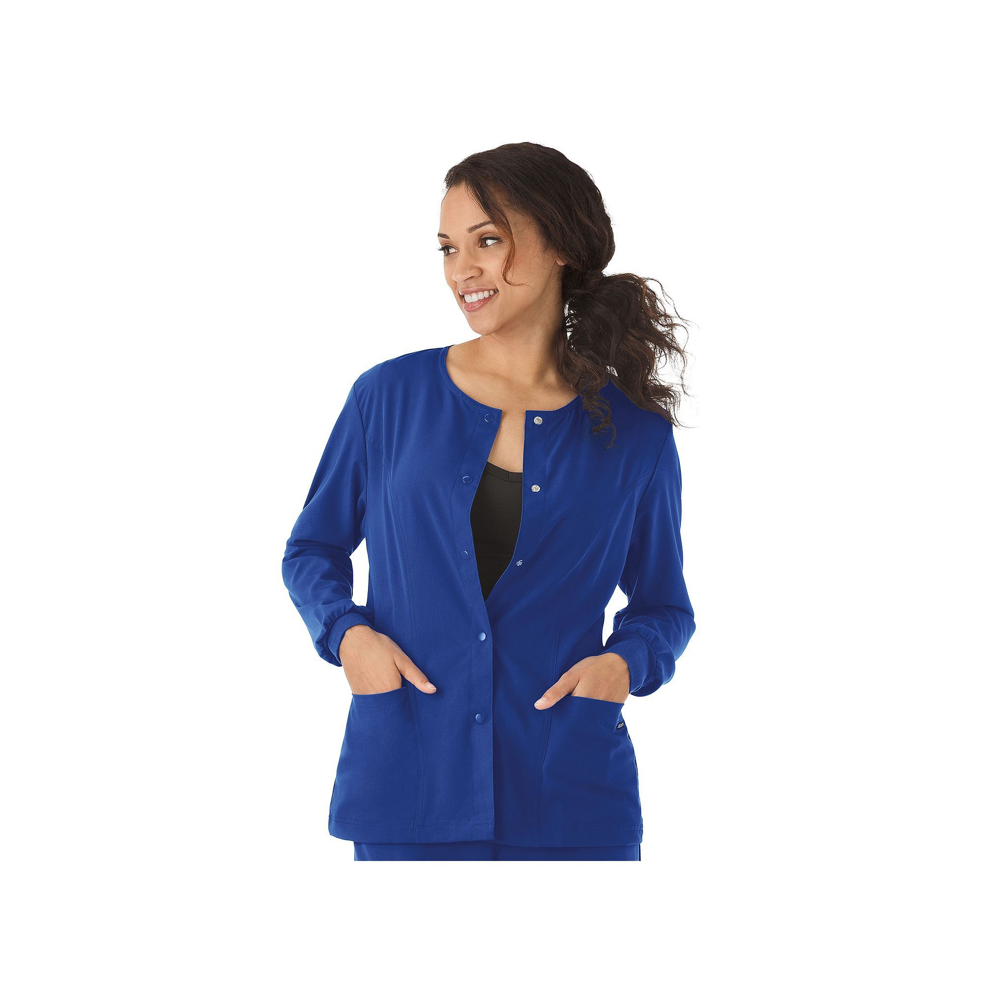 23287de0204 Jockey Plus Size Scrubs Classic Long Sleeve Jacket