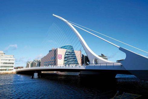 """Мост """"Самюэла Беккет"""" в Дублине, Ирландия, Калатрава"""