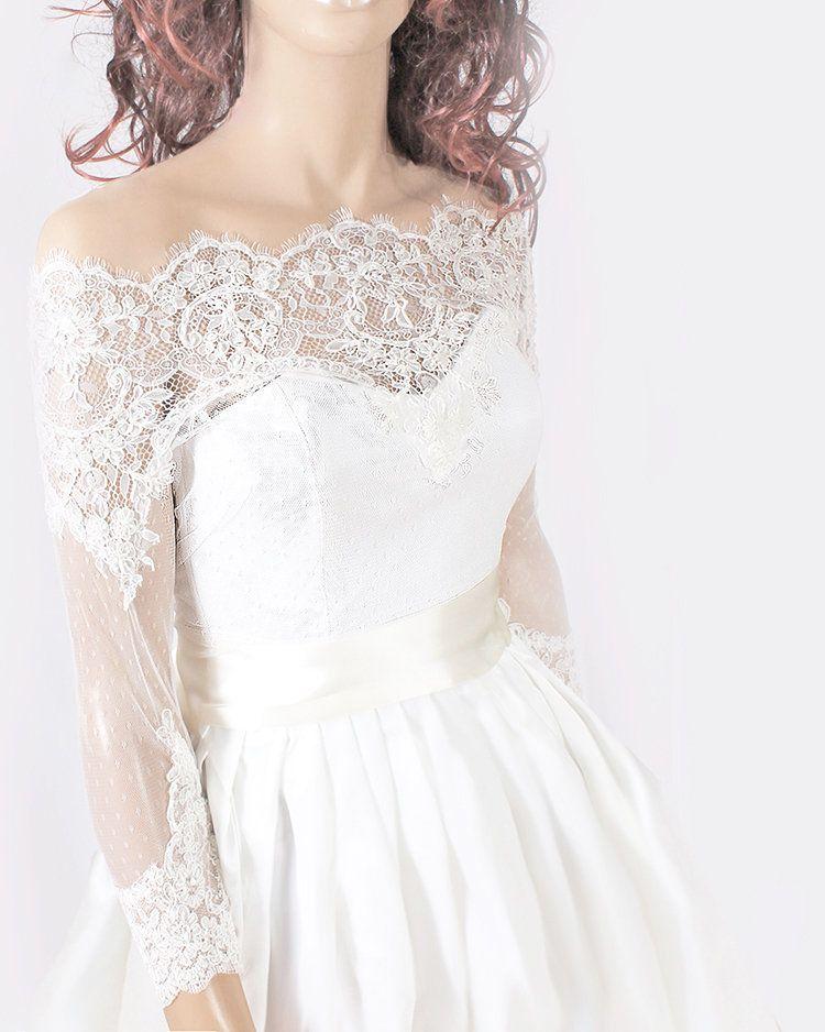 c758af99b15 Plus Size lace bolero  Bridal Off-Shoulder  high quality lace  jacket   cover up shrug wrap topper wedding accessories