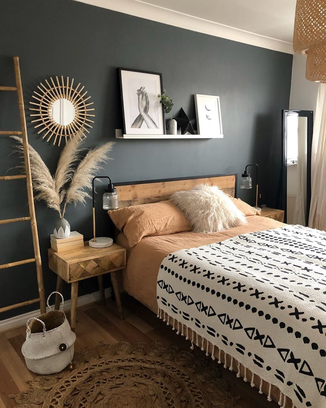 """Crumbs Home on Instagram: """"Bring a pop of color into your home, start with a black wall.  Via…"""