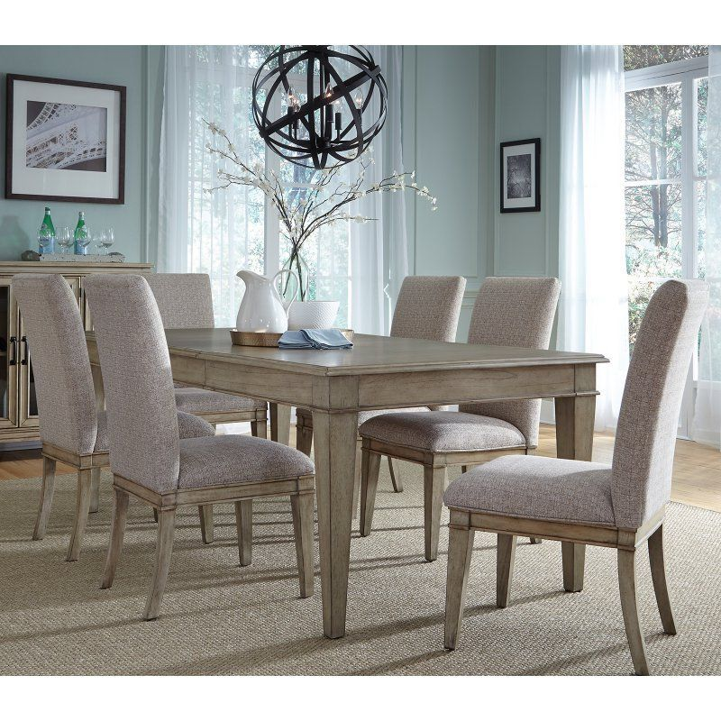 Liberty Furniture Grayton Grove 7 Piece Upholstered Dining Table Custom Upholstered Dining Room Chairs Inspiration Design