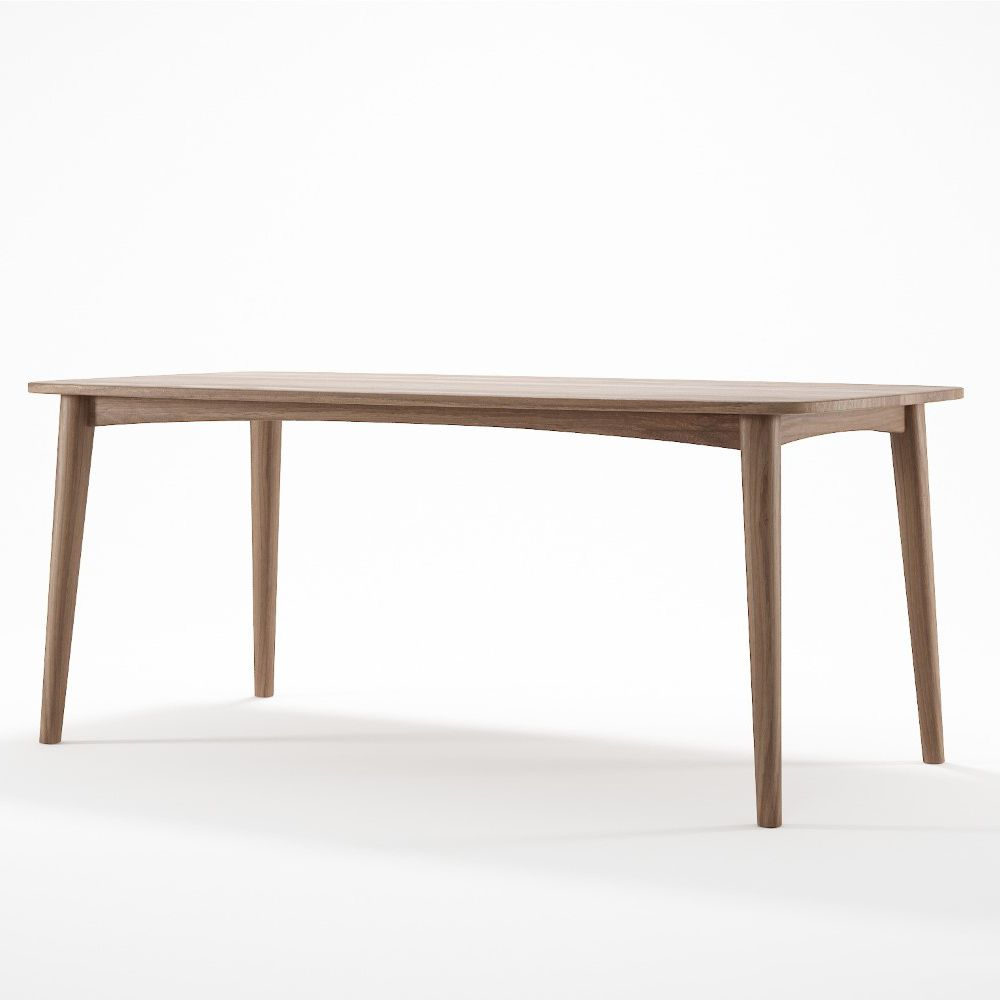 Burnie Rectangular Dining Table Online Only Natural Matt