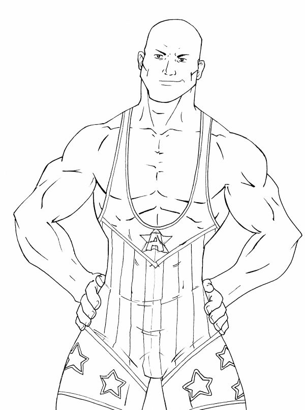 wrestling coloring pages wwe