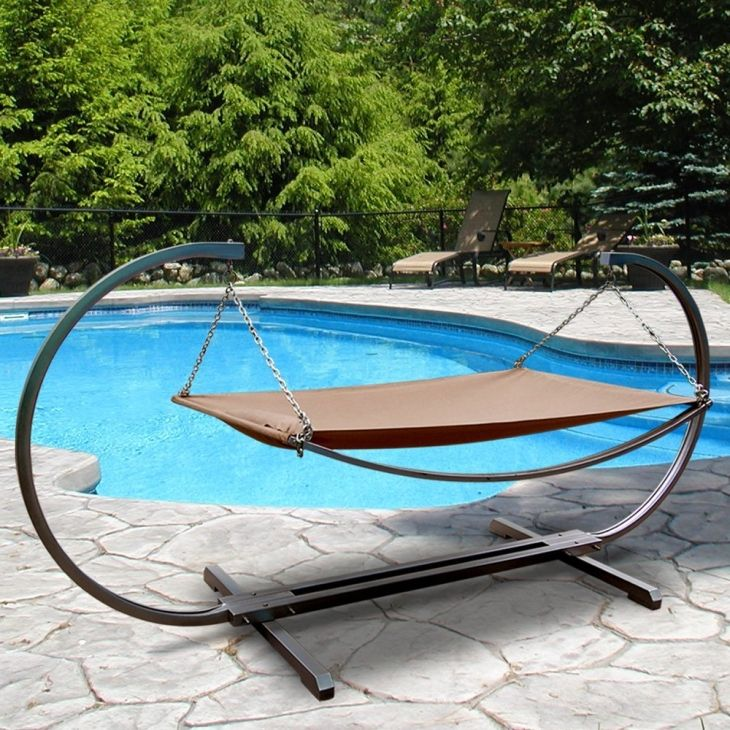 52% Discount: Outdoor Stand And Polyester Hammock Bed