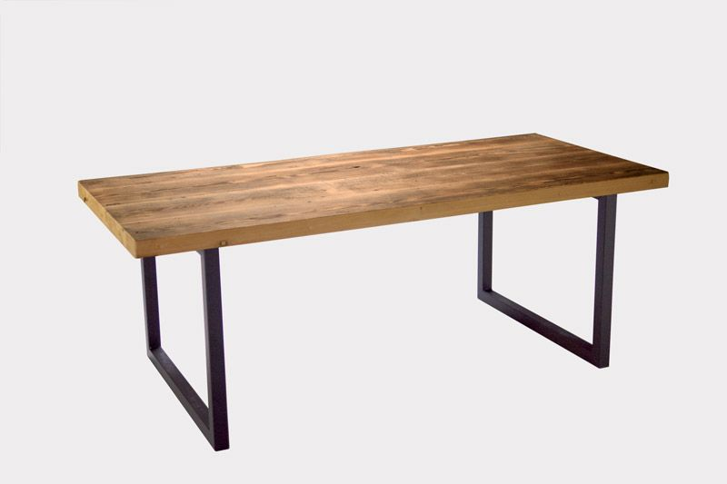 rotterdam table sur mesure vieux bois en douglas la parqueterie nouvelle wood table. Black Bedroom Furniture Sets. Home Design Ideas