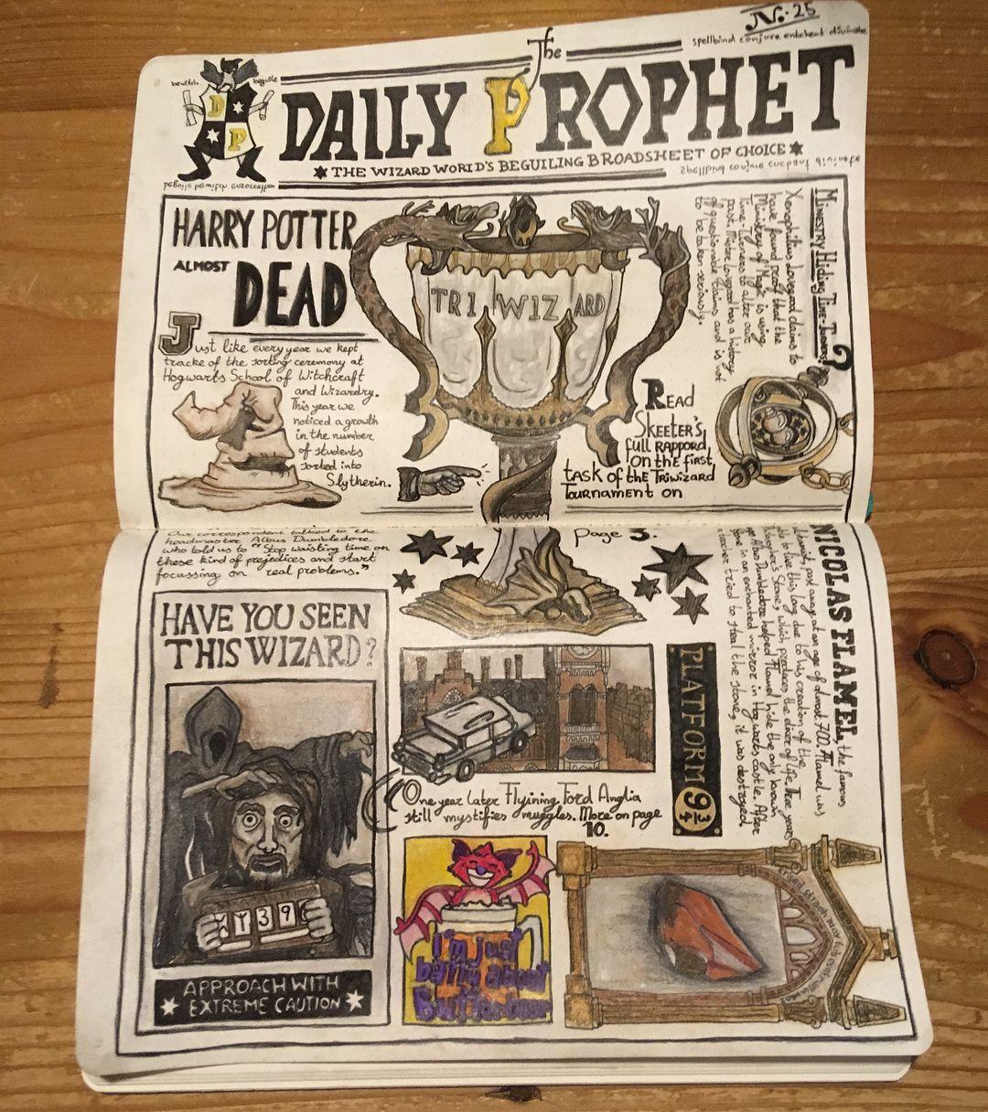 Harry Potter Bullet Journal Layout Harry Potter Journal Harry Potter Scrapbook Bullet Journal Themes