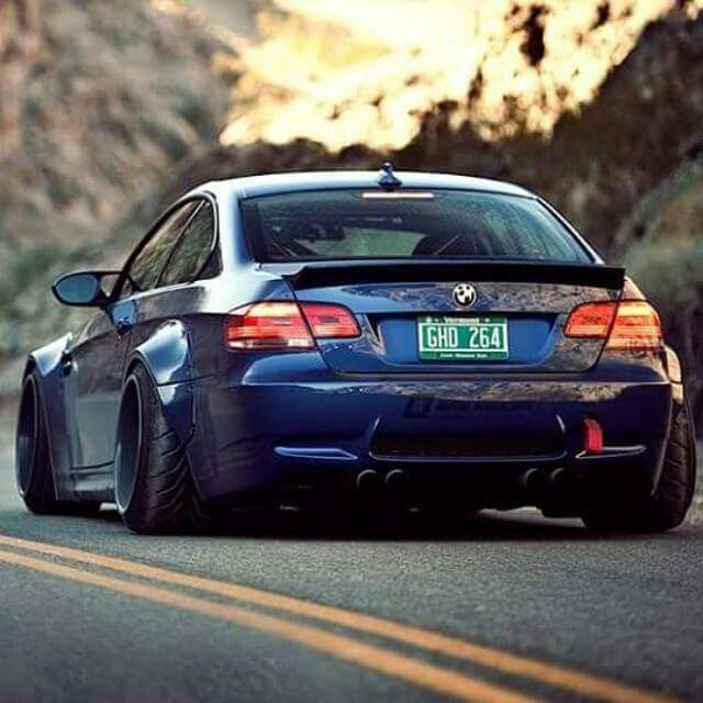 Bmw E92 M3 Blue Widebody Deep Dish With Images Bmw Bmw Girl