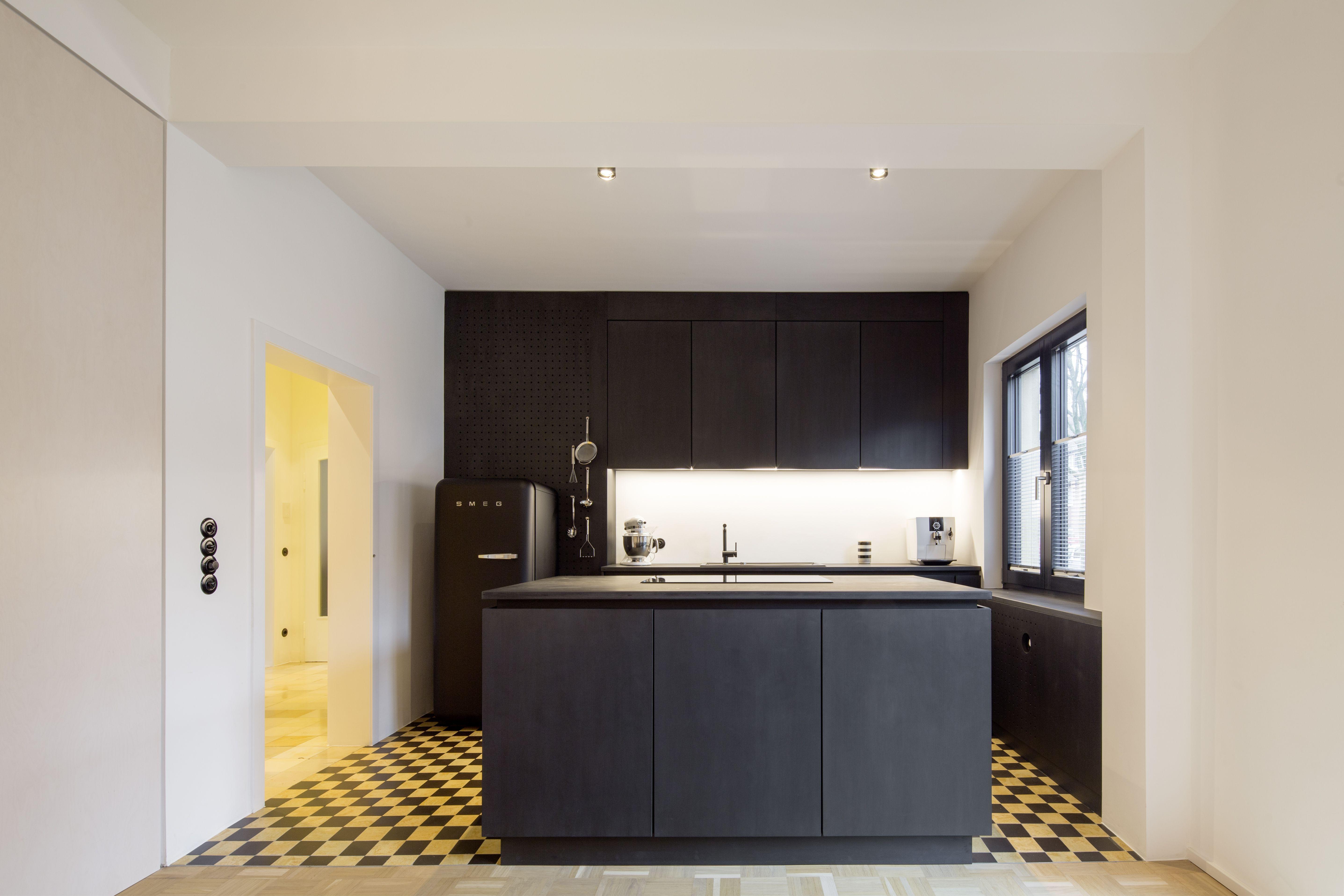 Innenarchitektur Münster haus k münster umbau und sanierung schwarze sperrholz küche