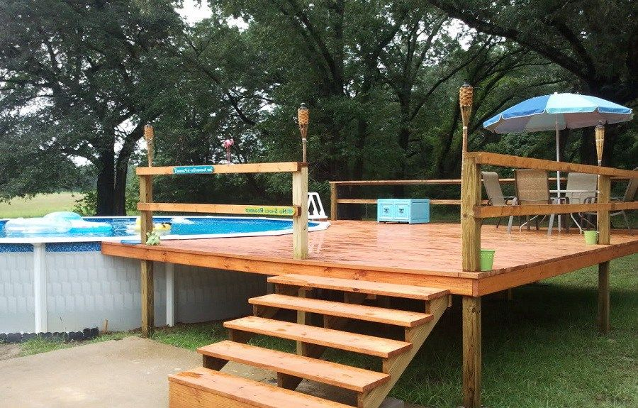 Above ground pools with decks 42 beautiful examples an - Beautiful above ground pools ...