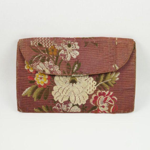 Georgian Silk Pocketbook Wallet English Silk by OneBakerStreet