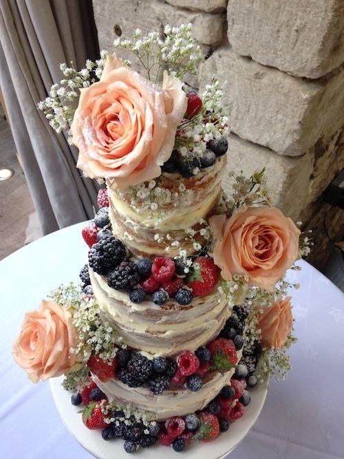 non berry naked wedding cake - Google Search