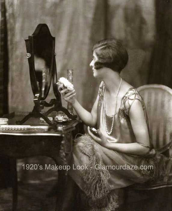 Gallery – Makeup Mirror – Women of the 1920′s. 1920s-flapper-at-her-makeup-mirror.