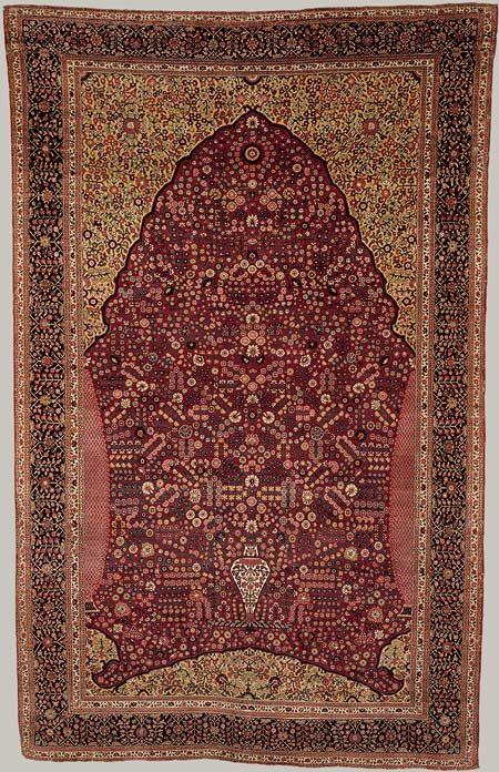 Prayer Rug 18th Century Mughal Probably Kashmir India