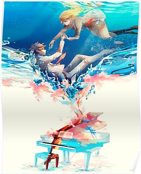 your lie in april anime phone case poster by caroline wang your lie in april picture design you lied