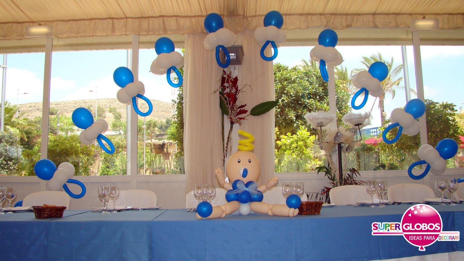 Decoraci n con globos para bautizo de ni a imagui - Decoracion de globos ...