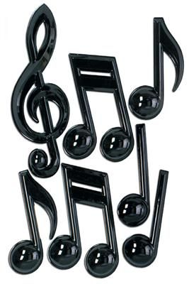 "13"" Plastic Musical Notes"