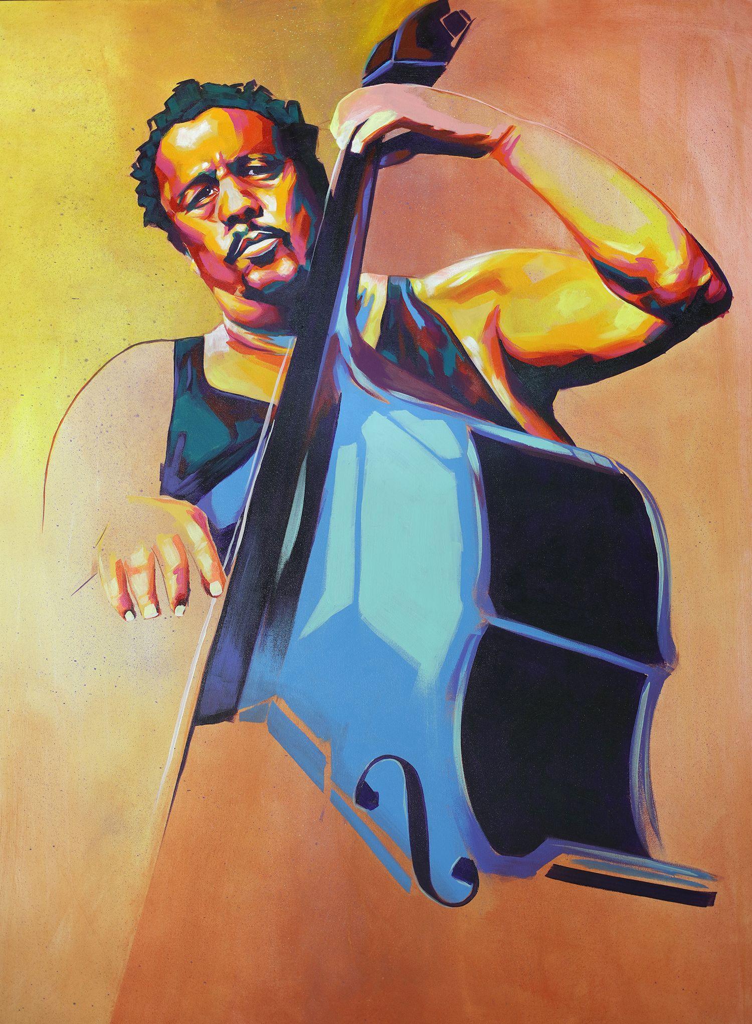 Jazz Bassist Charles Mingus   Art by Detour   Pinterest ...