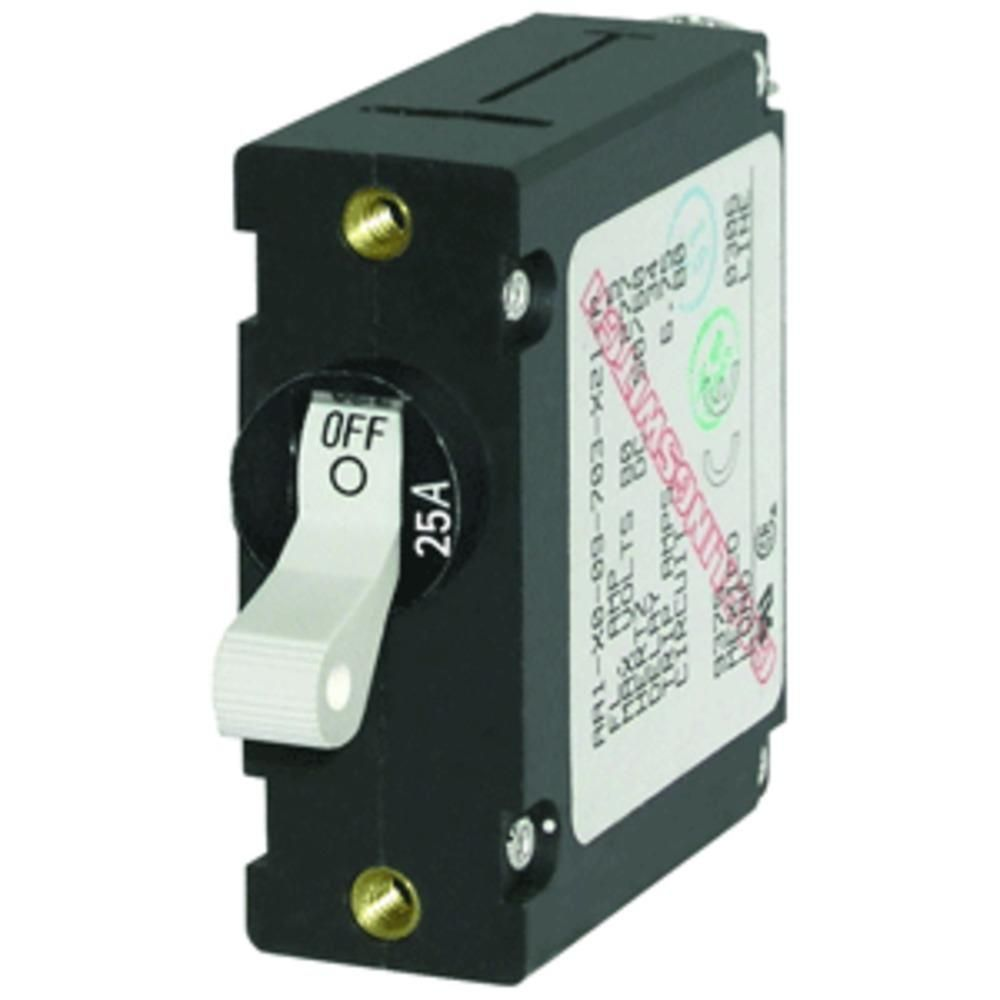 Blue Sea 7218 Ac Dc Single Pole Magnetic World Circuit Breaker And Circuits 25 Amp