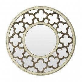 Espejo Redondo D76 Blanco Desgastado Ventas En Www
