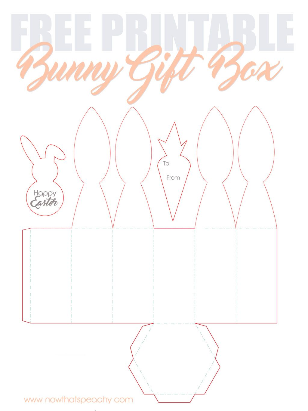 Kasten Basteln Free Bunny Ears Gift Box Printable For Easter Easter Ideas