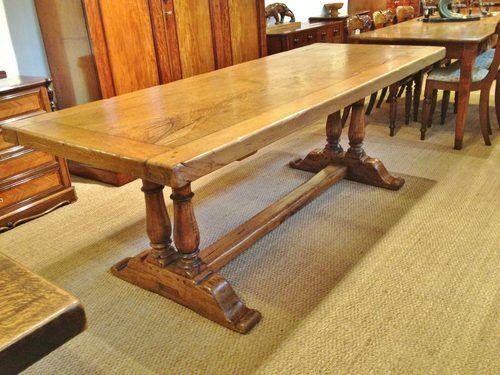 Lovely Antique Oak Farmhouse Table, Antique Farm Table   Write Spell