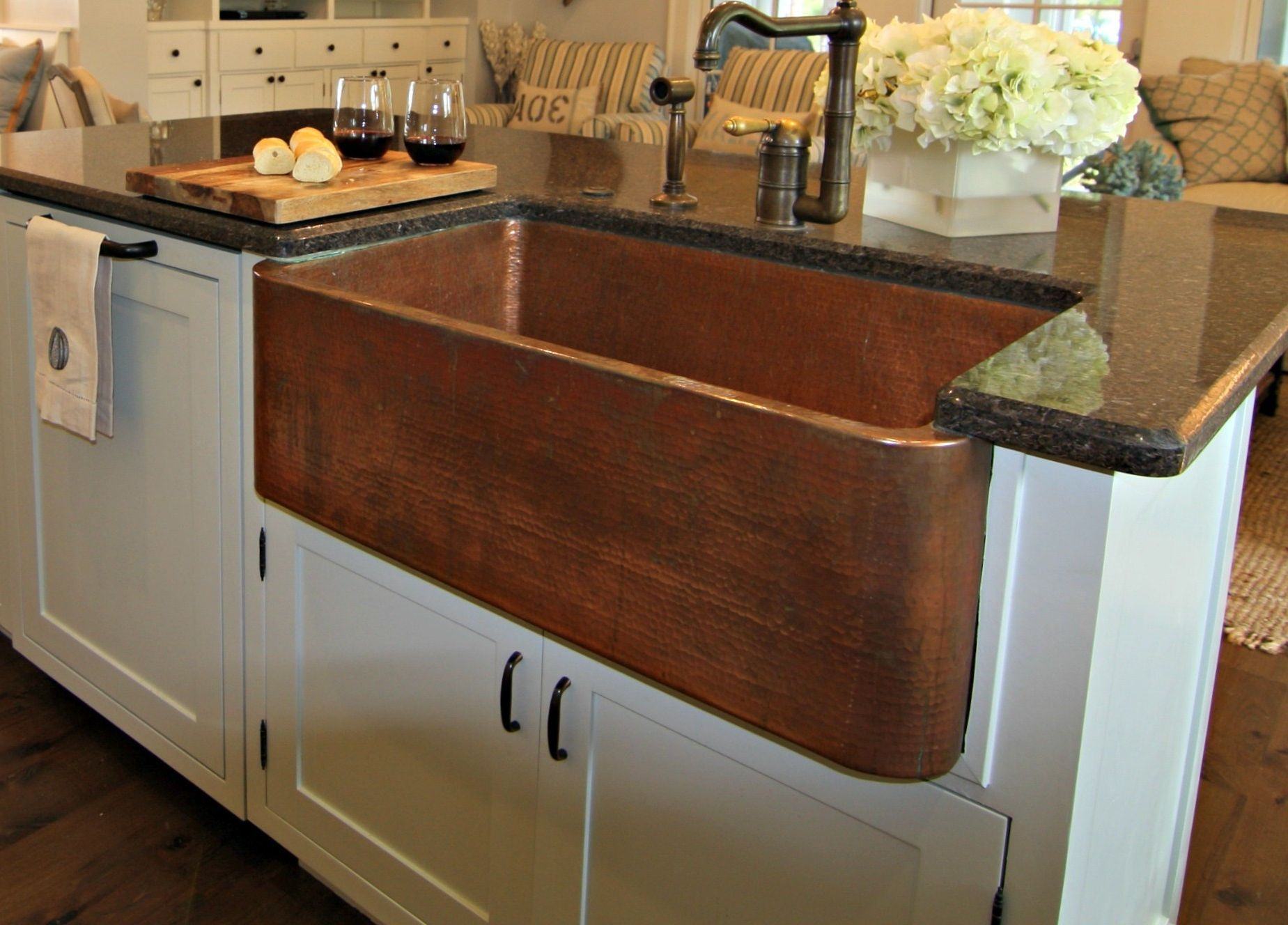 copper kitchen | Copper Kitchen Sink With Farmhouse Style For ...