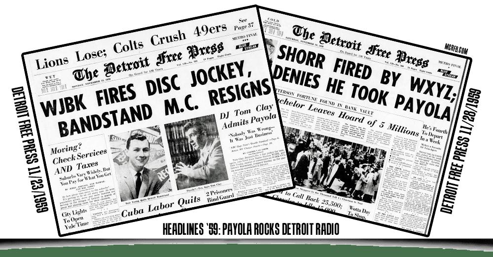 PAYOLA SCANDALS | Local history, Detroit michigan, History