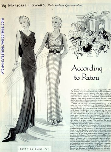 Woman\'s Home Companion, Jan. 1936. Designs and Advice from Patou ...