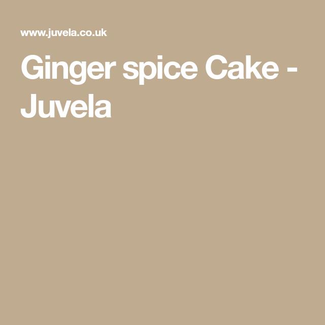 Ginger Spice Cake Juvela Coeliac Recipes Spice Cake Ginger Spice