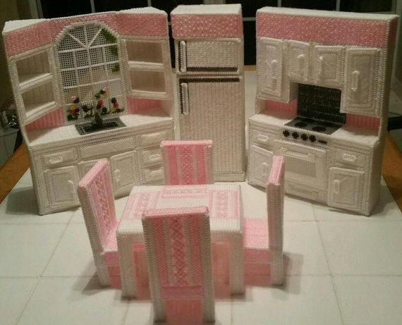 Items similar to Plastic Canvas doll furniture on Etsy