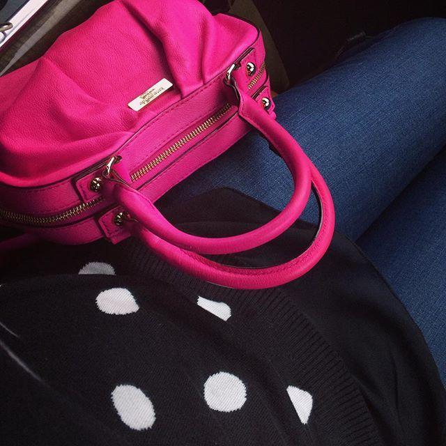 Pink & polka dots ❤️ @katespadeny #rainyday #livecolorfully