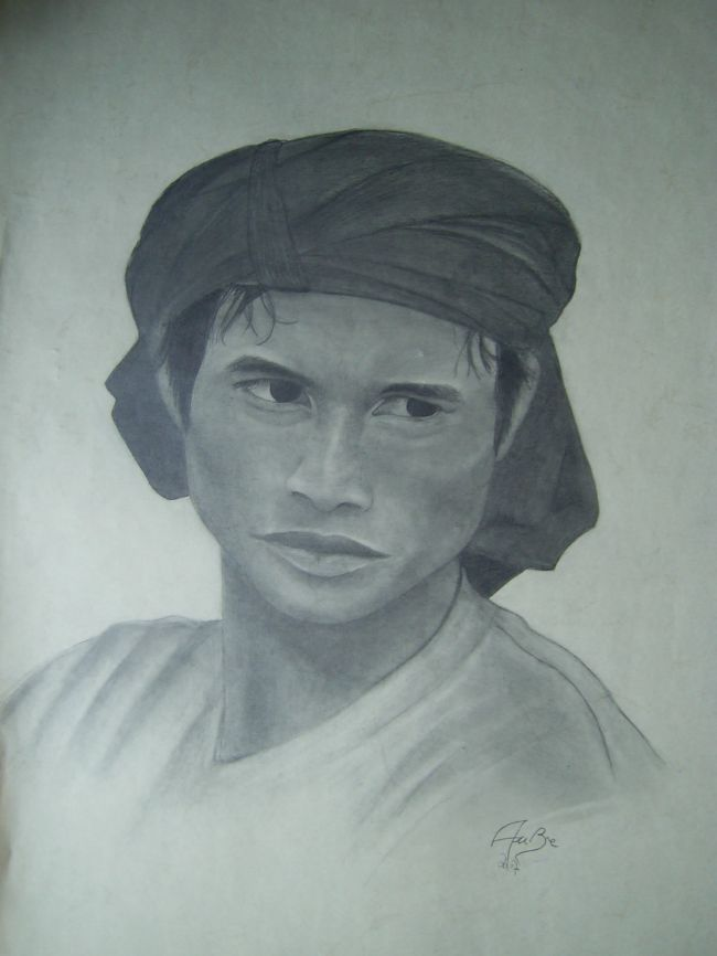 Peinture L'Homme du Tibet