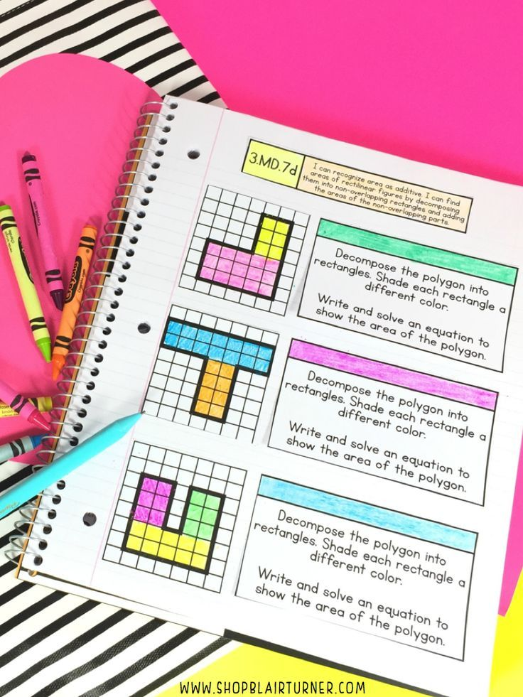 3rd Grade Interactive Notebook MATH TEST PREP | Math skills, Math ...