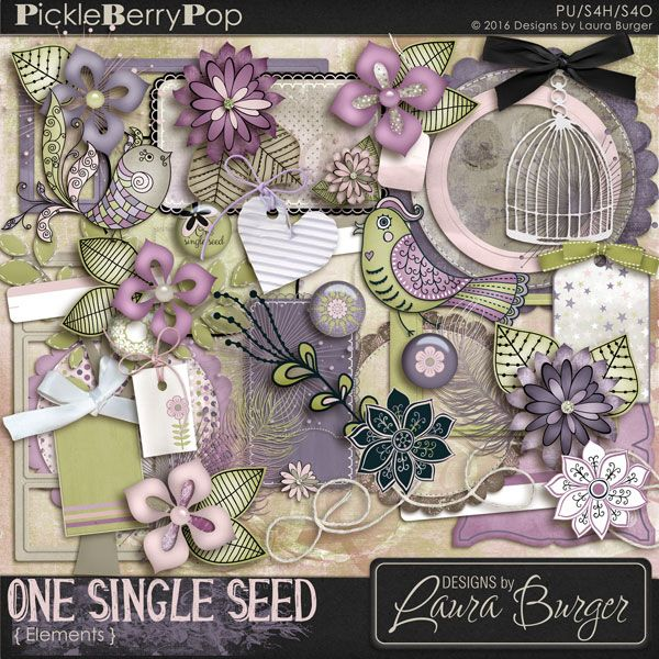 One Single Seed Elements By Designs by Laura Burger
