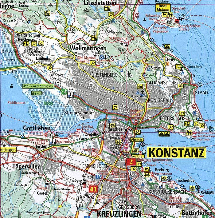 konstanz bodensee karte bodensee karte stadtplan konstanz uebersicht b 700. (700×709