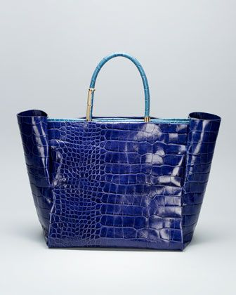 Moon River Crocodile Embossed Tote Bag By Lanvin At Bergdorf Goodman