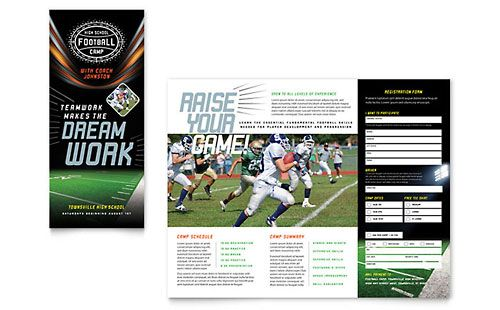 Football Training Brochure Template Brochure Sport Fitness Football