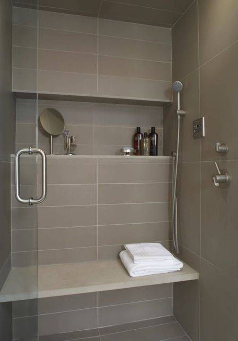 Bathroom Great Bathroom Shower Ideas Bathroom Shower Ideas With Horizontal Niche And Slab Bench