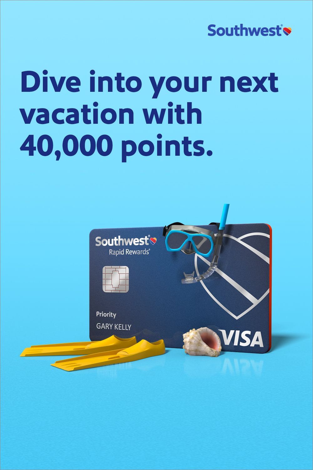Earn 40,000 points with the Rapid Rewards® Priority Credit