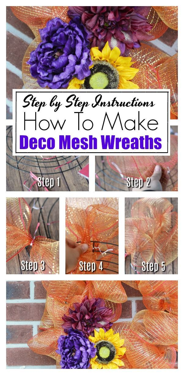 How To Make Deco Mesh Wreaths: Step by Step Intructions