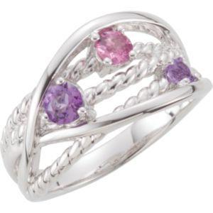 Genuine Amethyst & Pink Tourmaline Ring | Stuller