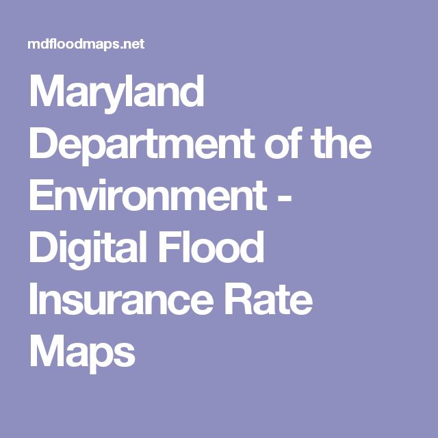 Maryland Department Of The Environment Digital Flood Insurance - Digital flood insurance rate map