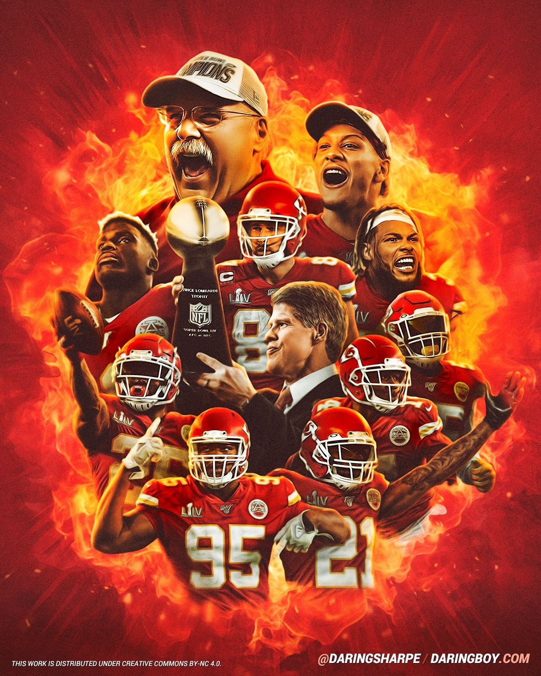 Andy Reid Patrick Mahomes Tyrann Mathieu Frank Clark Sammy Watkins Bashaud Breeland Chris Jone In 2020 Chiefs Super Bowl Travis Kelce Kansas City Chiefs Football
