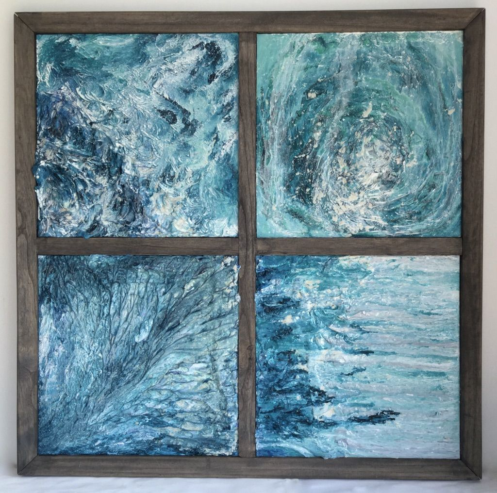 Cécile Boland   Châssis Bois / Wood Frames   Mixed Technique   Ocean    Abstract Art