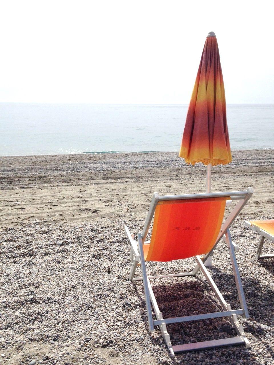 Pausa pranzo in spiaggia!  Grand Hotel President, Siderno, Calabria