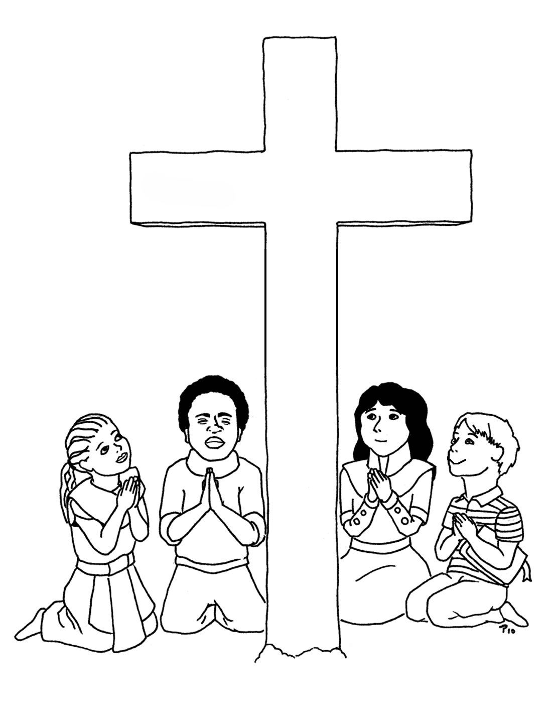 jesus cross coloring sheet google search