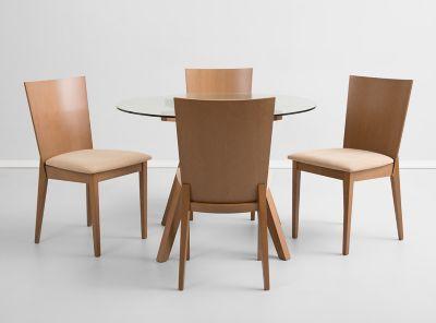 Juego de comedor francis ii 4 sillas attimo paris for Comedores almacenes paris