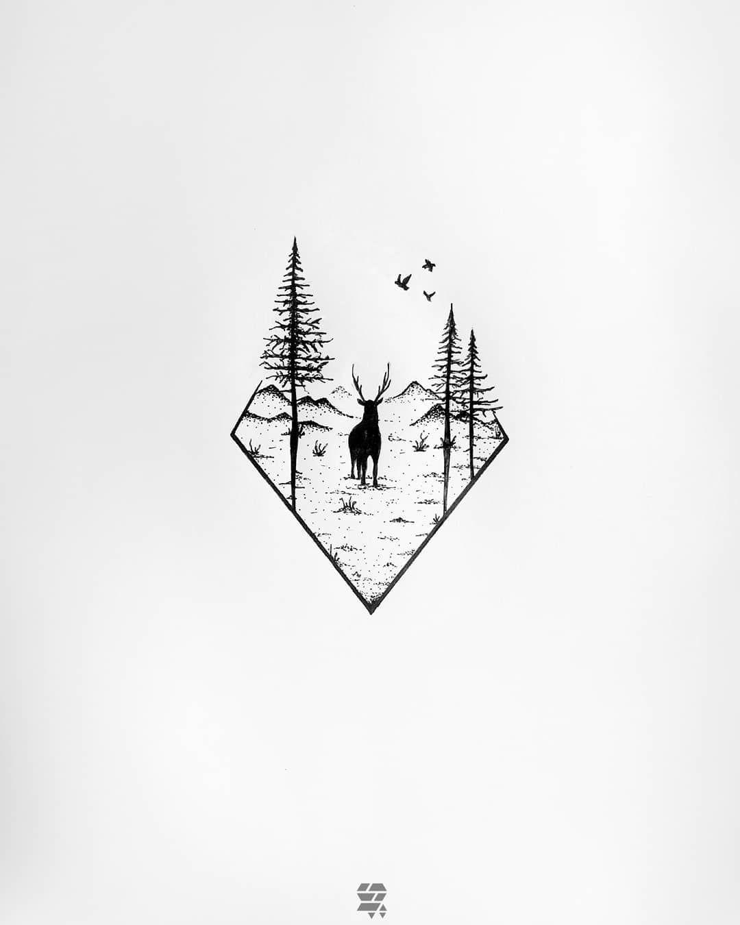 "S O U F I Δ N E     سفُيآن 〣 on Instagram ""WILD X FREE                   drawingtattoo tattoo artwork forestry inkd inkdrawing whiteonwhite worbla blackand blackpen…"" is part of Deer tattoo designs - 1,201 Likes, 27 Comments  〣 S O U F I Δ N E     سفُيآن 〣 (@soufiane el fanany) on Instagram ""WILD X FREE                   drawingtattoo tattoo artwork forestry inkd inkdrawing…"""